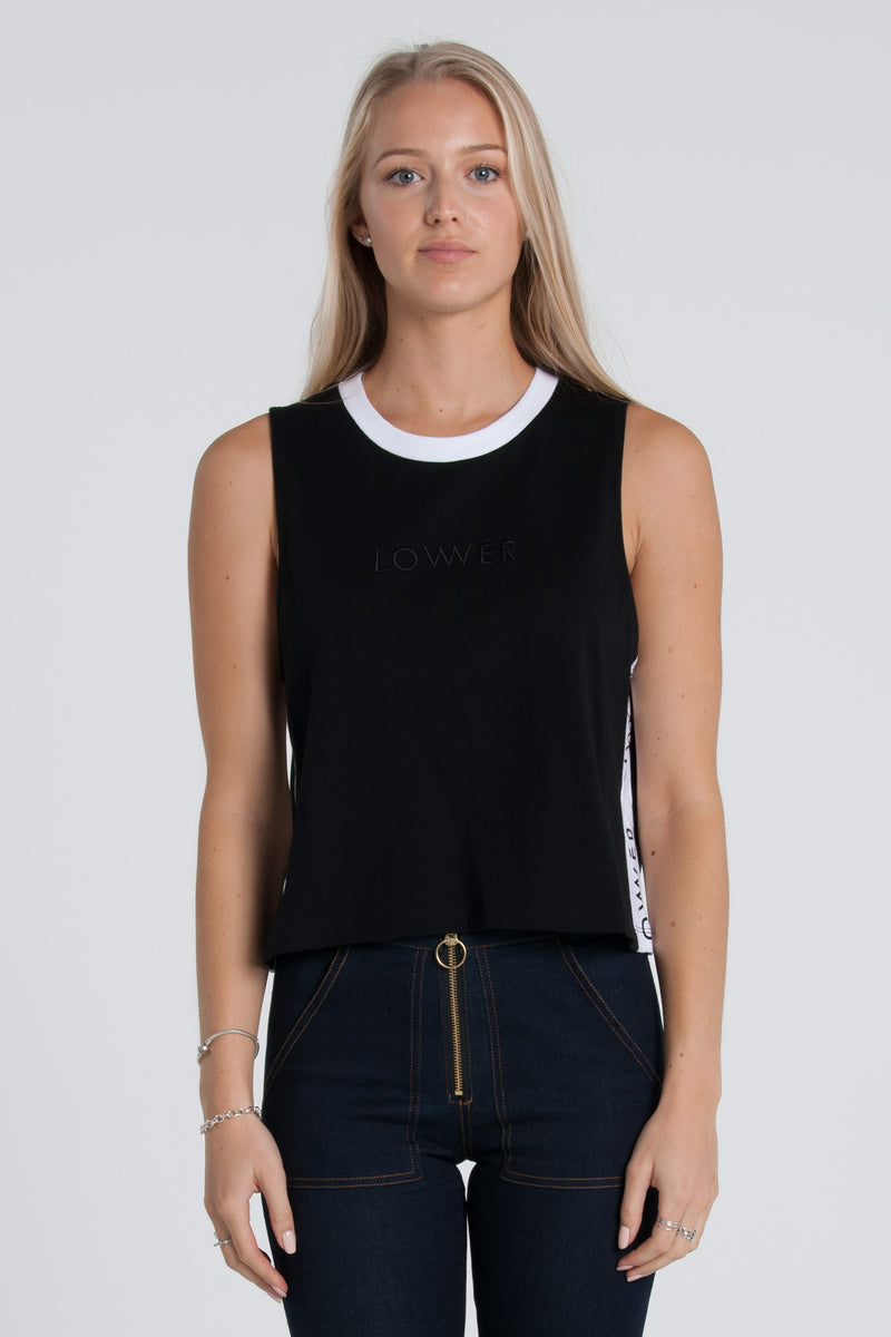 Boutique Cropped Tank - Black