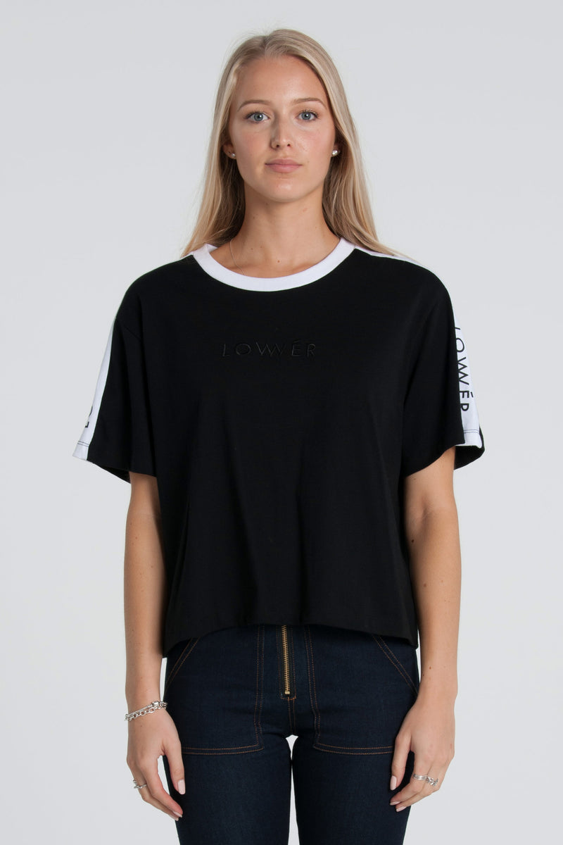 Boutique Cropped Tee - Black