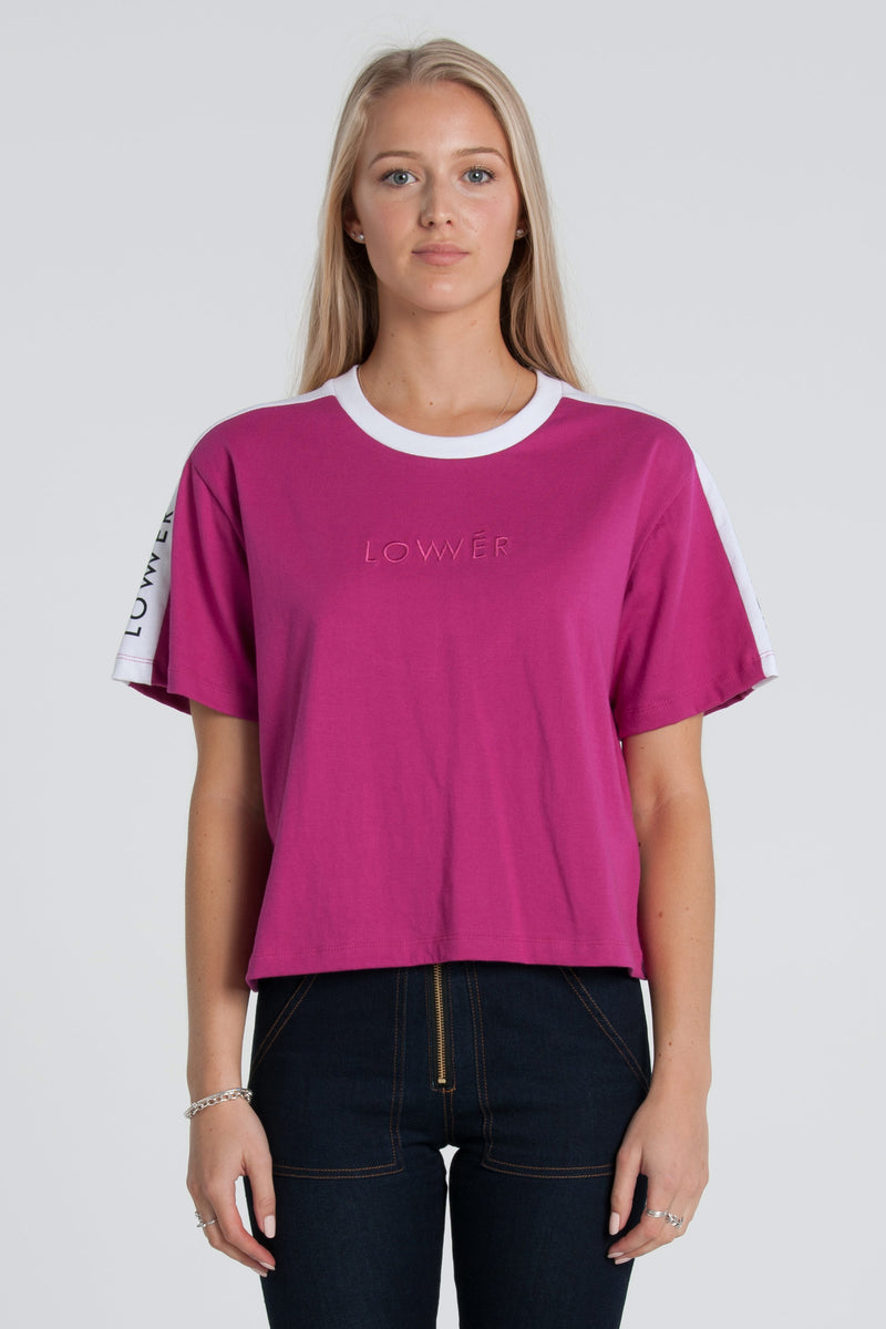 Boutique Cropped Tee - Magenta