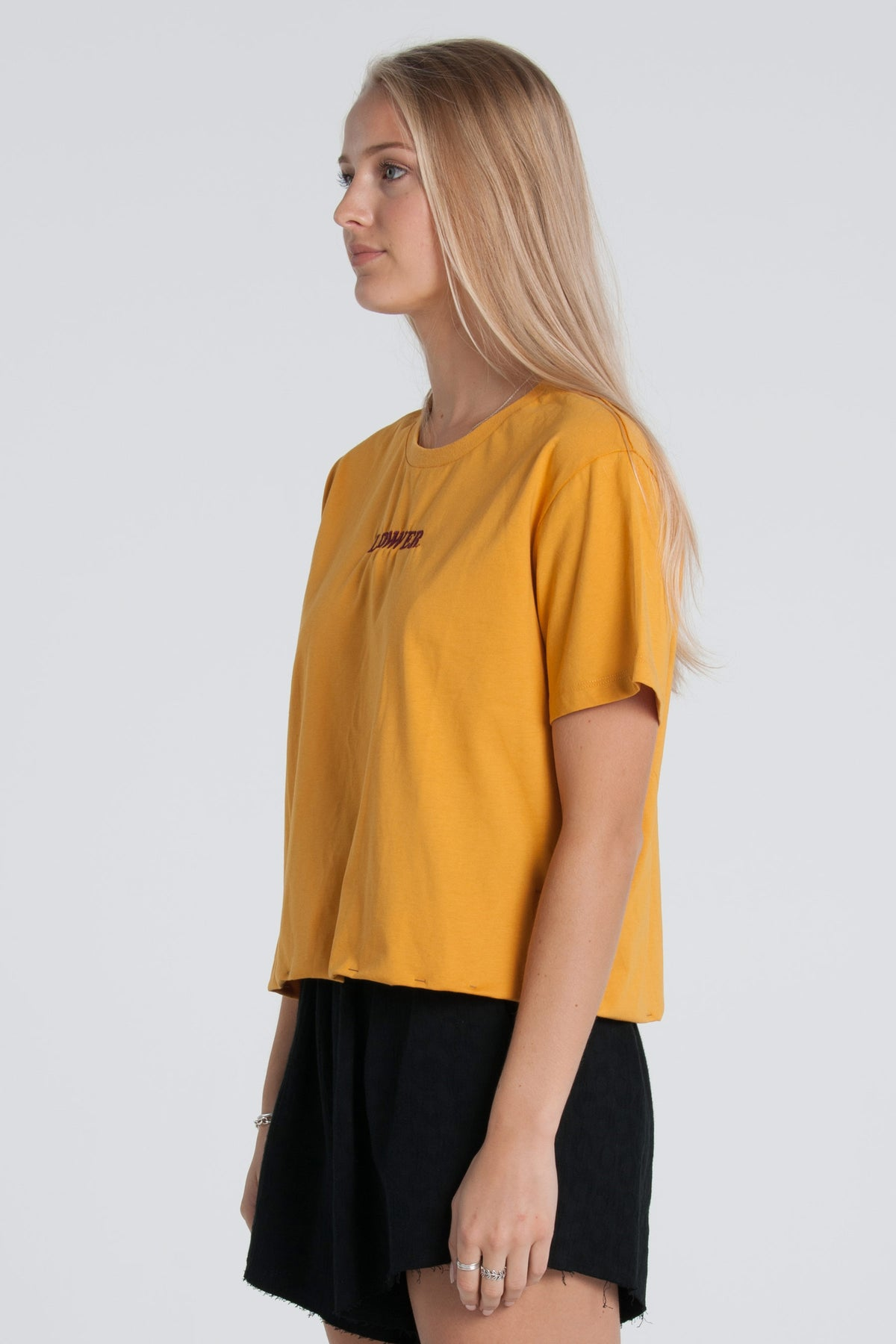 Cherry Ripe Cropped Tee - Gold