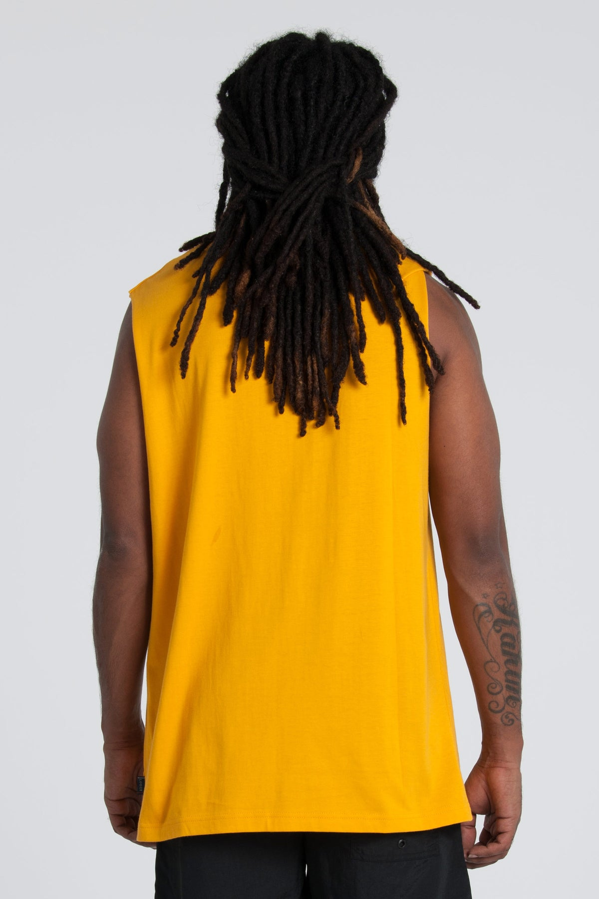 Dropout Cut Tank - Gold