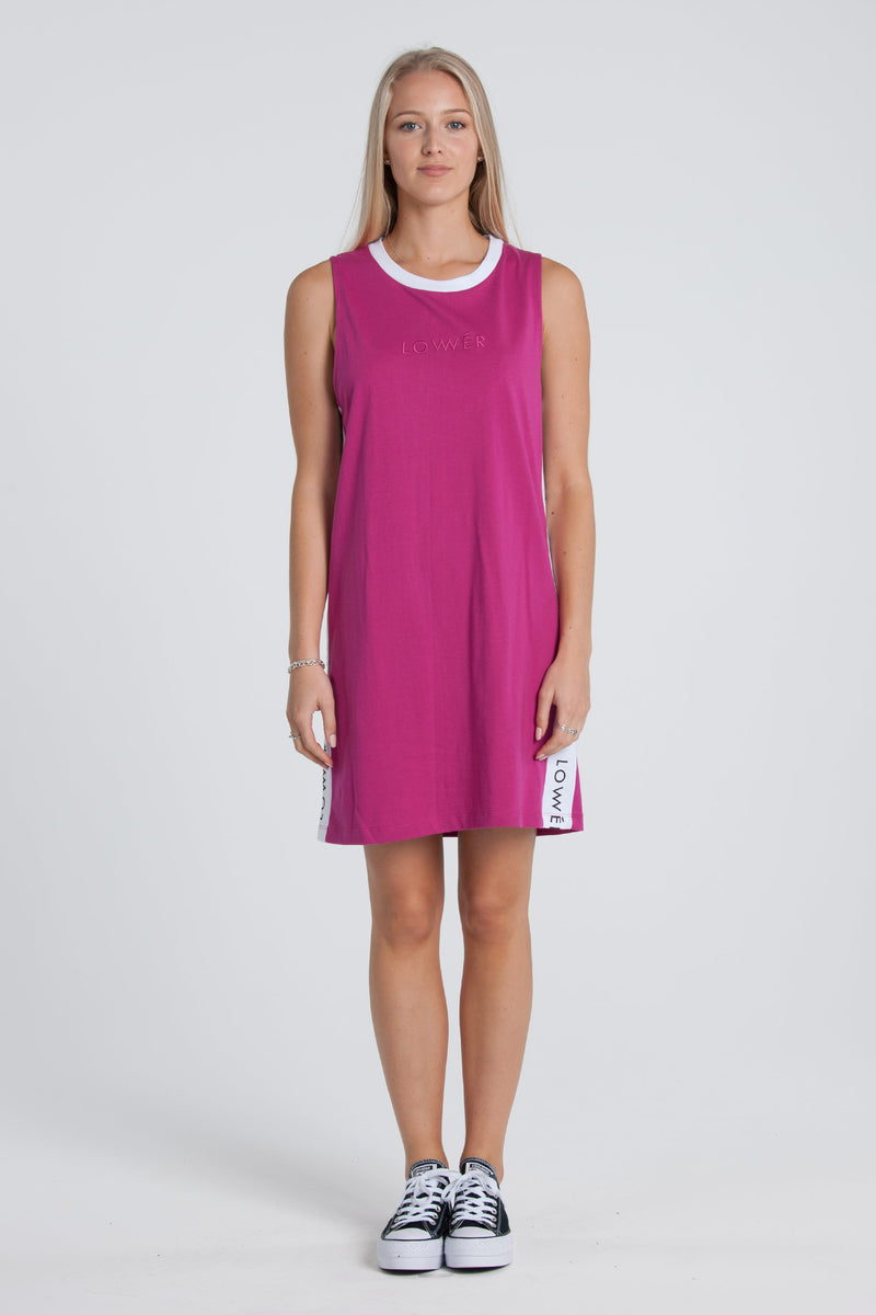 Boutique Day Dress - Magenta