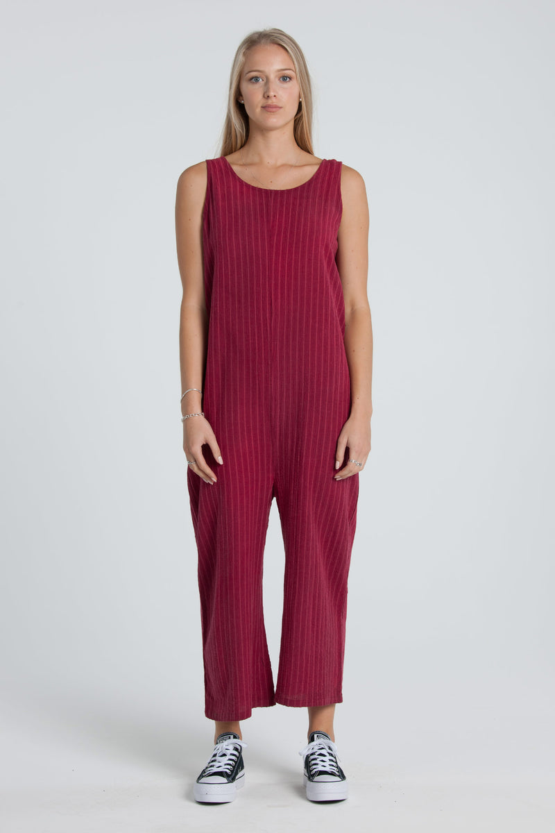 Frida Jumpsuit - Cherry