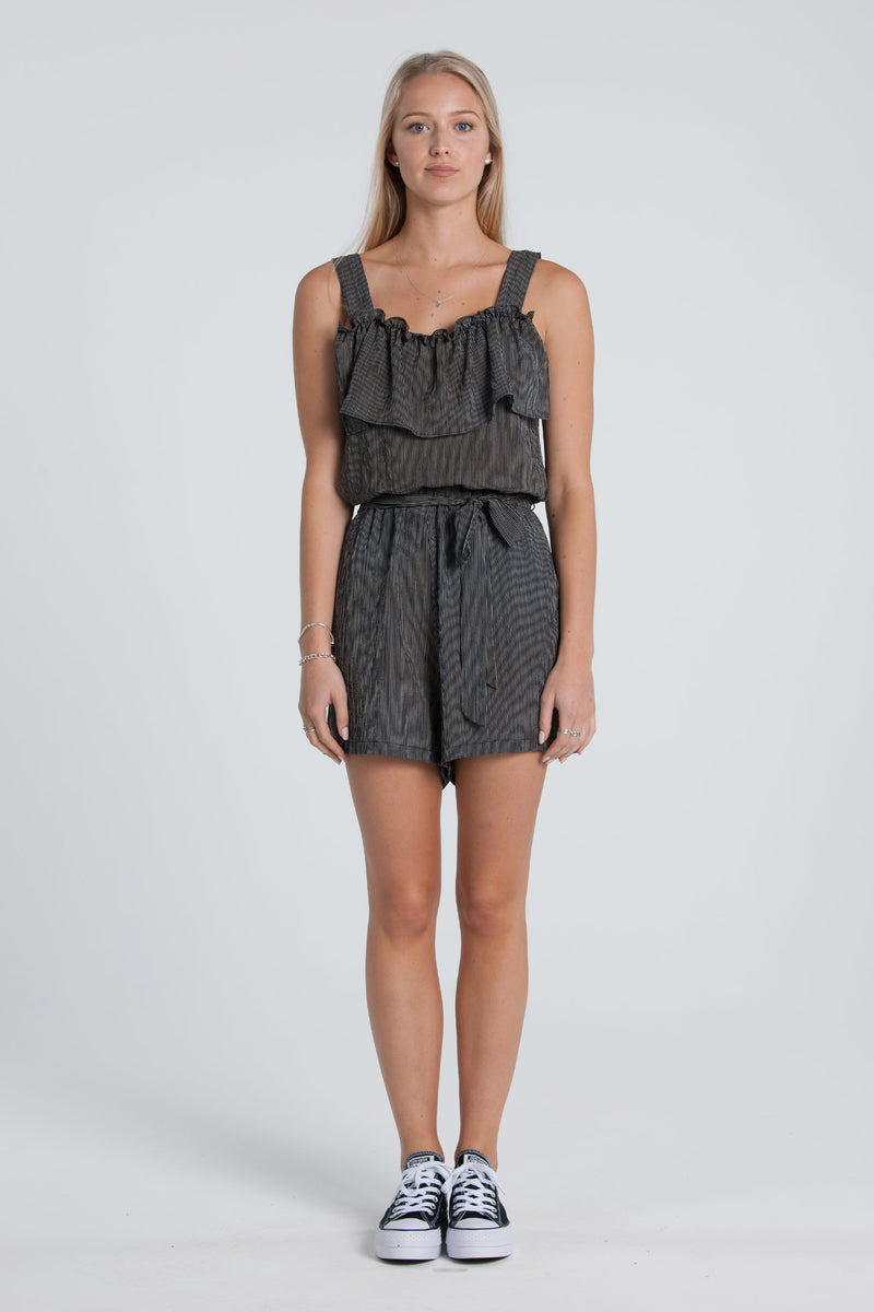 Juniper Playsuit - Black/White Stripe