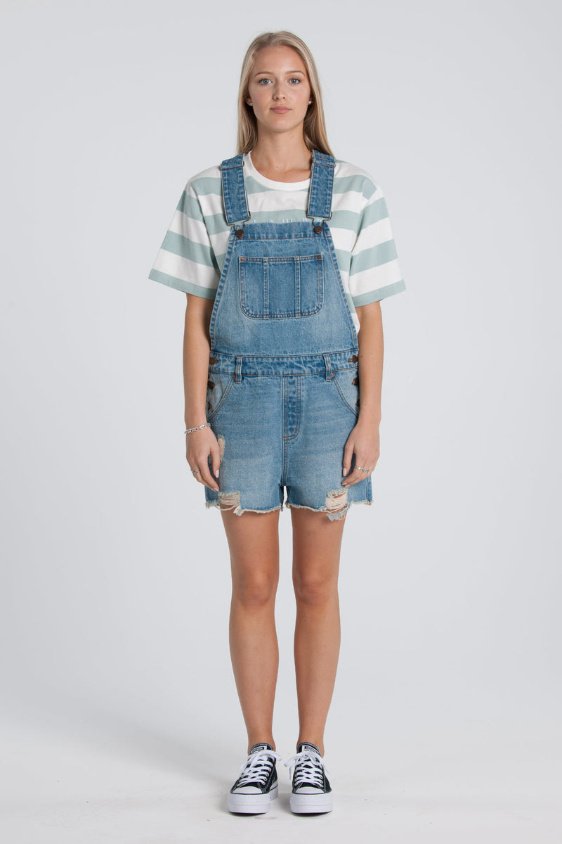 Lucy Denim Overalls - Blue Wash
