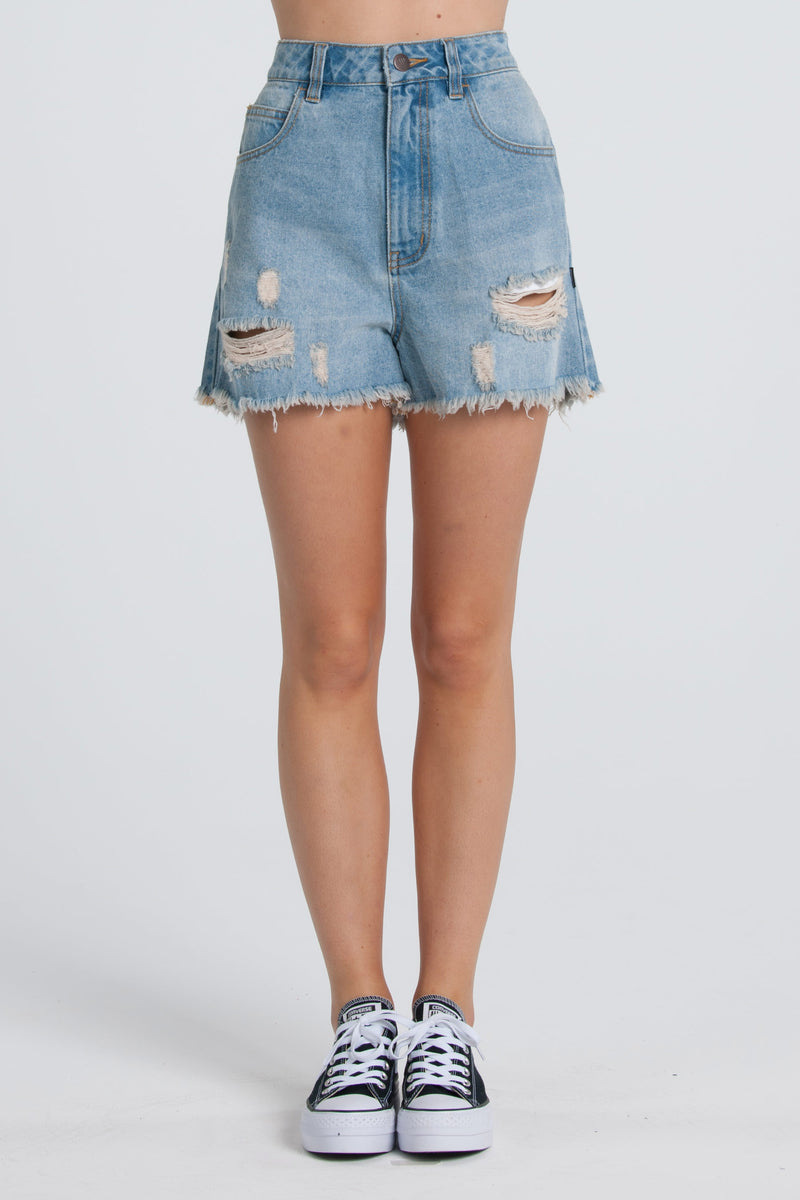 Lucy Denim Shorts - Blue Wash