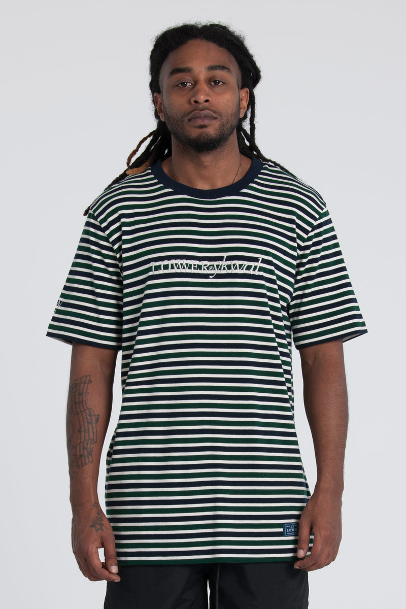Rail Tee - Green/Navy/White
