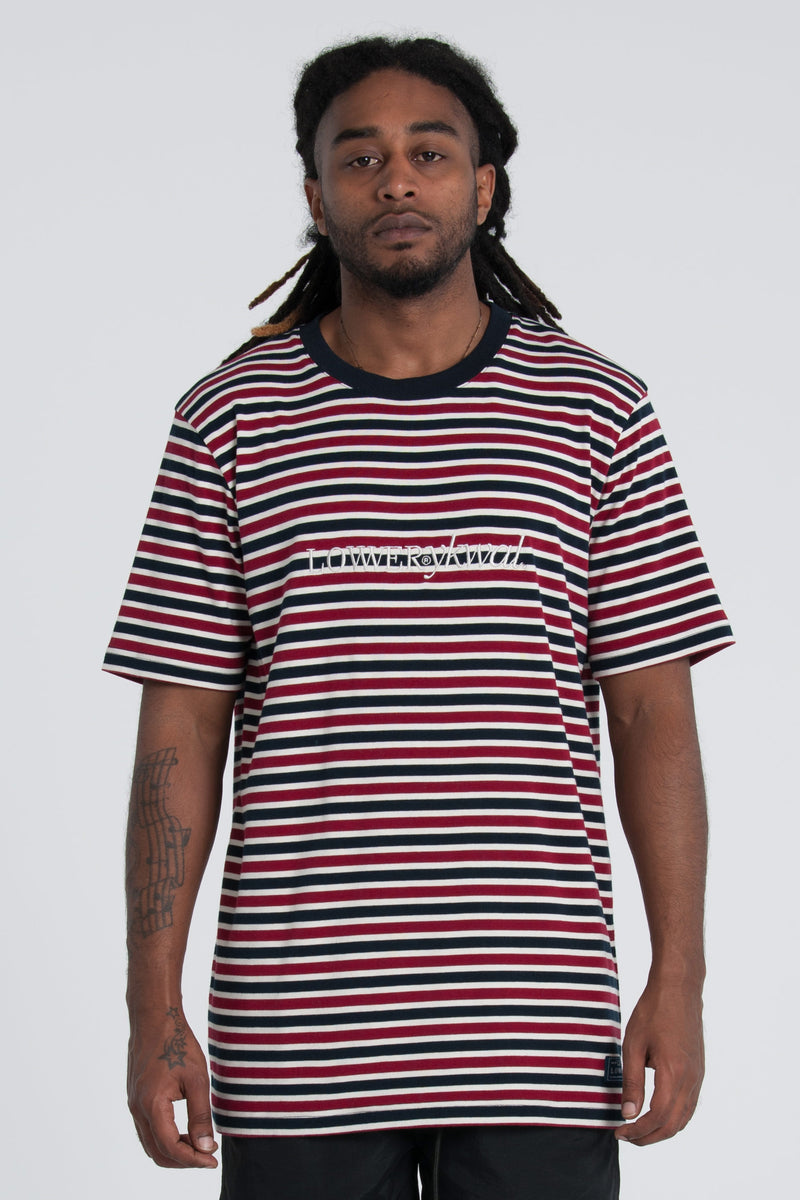 Rail Tee - Red/Navy/White