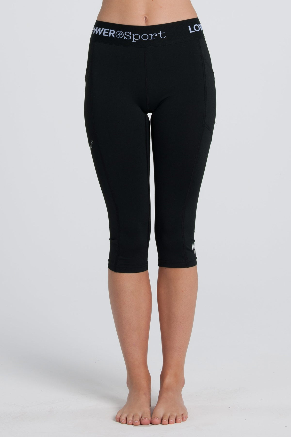 Side Pocket Capris - Black