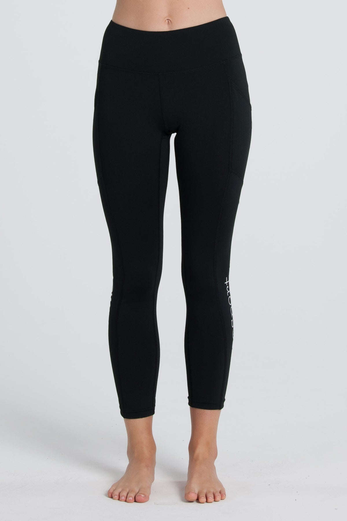 Side Pocket Tights - Black