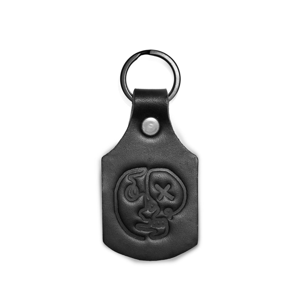 Live or die - Leather keyring
