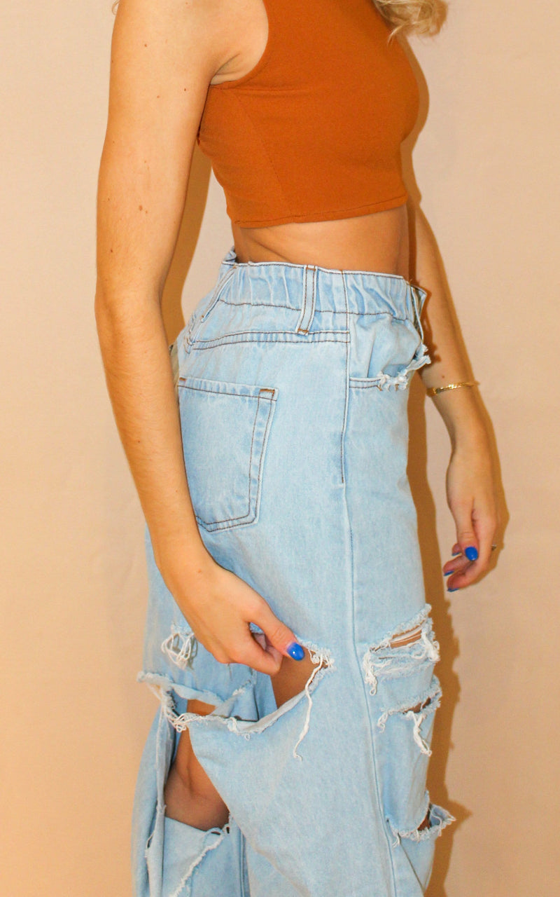 Exclusive Distressed Denim