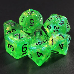 New HD Glitter Green Dice Set PREORDER
