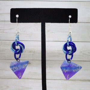 Twilight Sky Mobius D4 Earrings