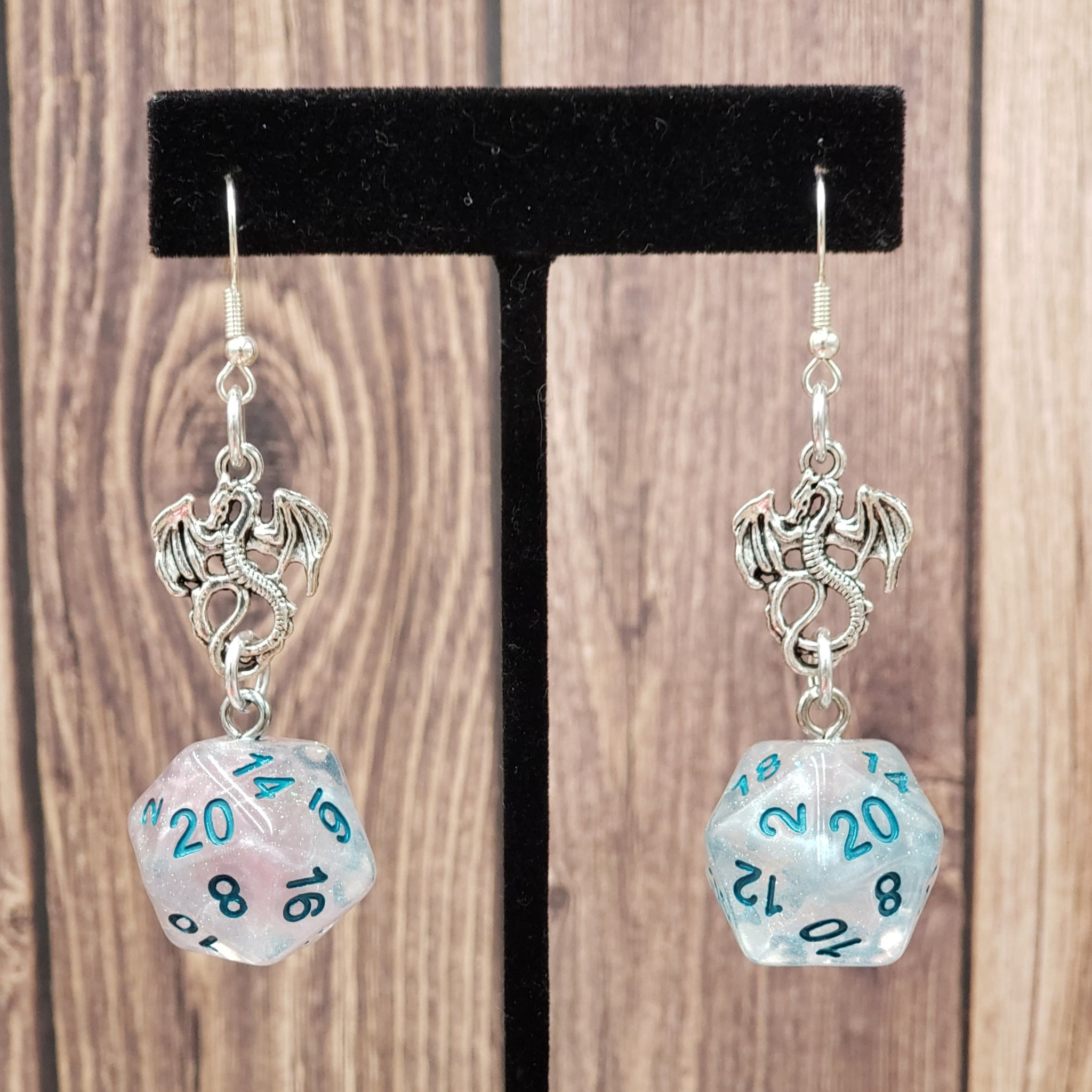 Winter Walker Dragon Nat20 Earrings