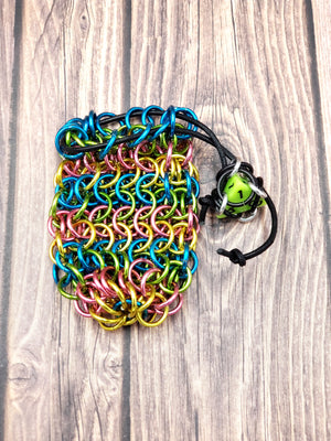 Neon Lights Single Set Chainmaille Dice Bag