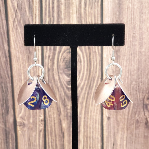 Arcane Sprite D10 & D% Earrings