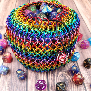 Prismatic Rainbow Behemoth Dicebag - Benefits The Trevor Project