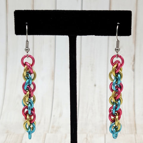 Pansexual Pride Twist Earrings