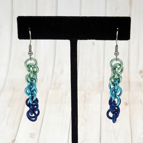Blue Gradient Twist Earrings