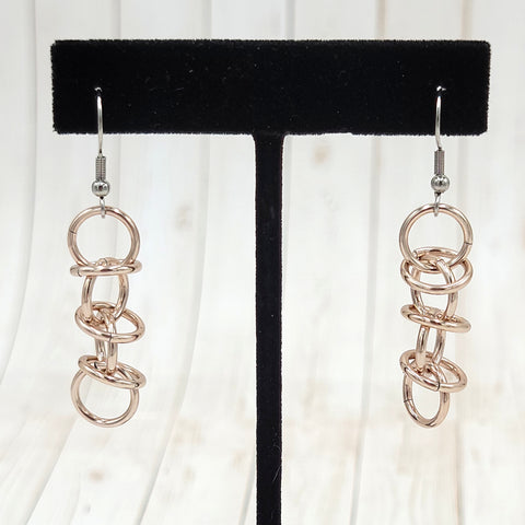 Imitation Rose Gold Orbital Earrings