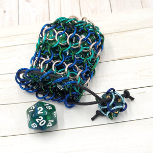 Underwater Treasure Single Set Chainmaille Dice Bag