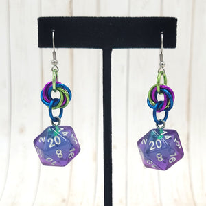Mermaid Mobius Swirl Nat20 Earrings