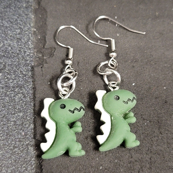 Adorable Dino Earrings - Choose a Color!