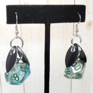 Cyberspace Sprite D10 & D% Earrings