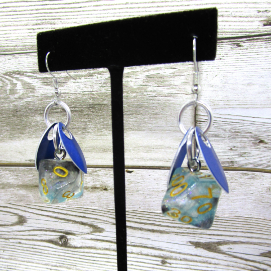 Wings of the Shade Sprite D10 & D% Earrings