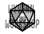 DIGITAL DOWNLOAD Nat20 Coloring Page
