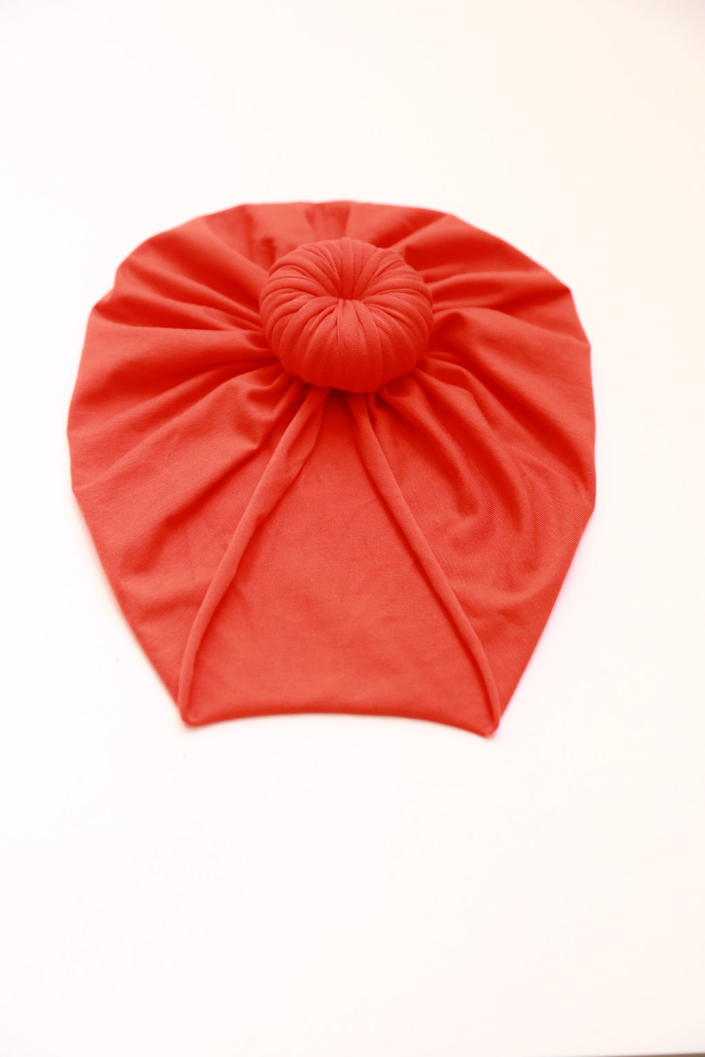 Knotted Head Wrap In Bamboo Orange