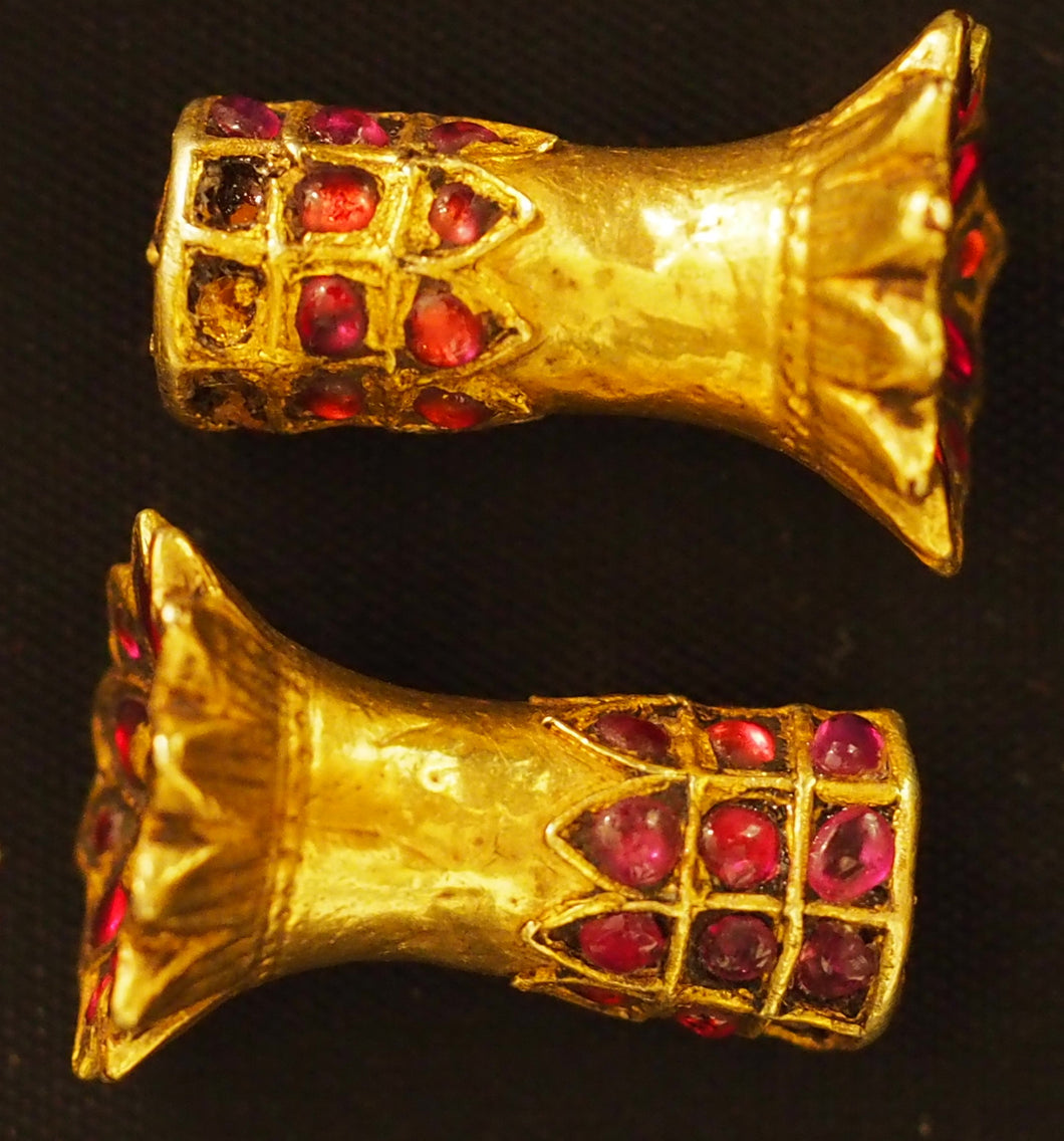 Gold ear cylinders from Assam (India)