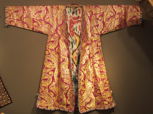 Bochara brocaded ceremonial kaftan