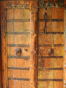Gujarati carved wooden door.
