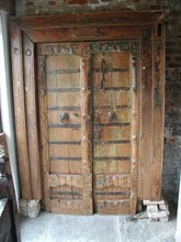 Load image into Gallery viewer, Gujarati carved wooden door.