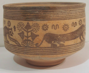 Indus Valley bowl with 3 leopards