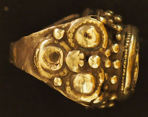Silver ring from Swat Valley