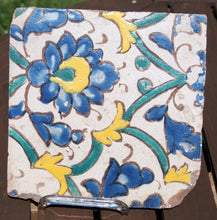 Load image into Gallery viewer, timurid cuerde seca pottery tile