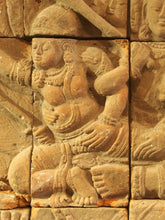 Load image into Gallery viewer, Javanese terracotta panel 14th-15th century. Abduction of Sita.