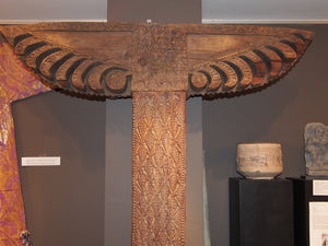 Wooden column with capital