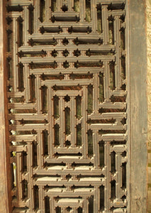 Antique Jali in wood.