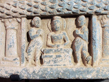 Load image into Gallery viewer, Gandhara curved stone panel from a stupa drum