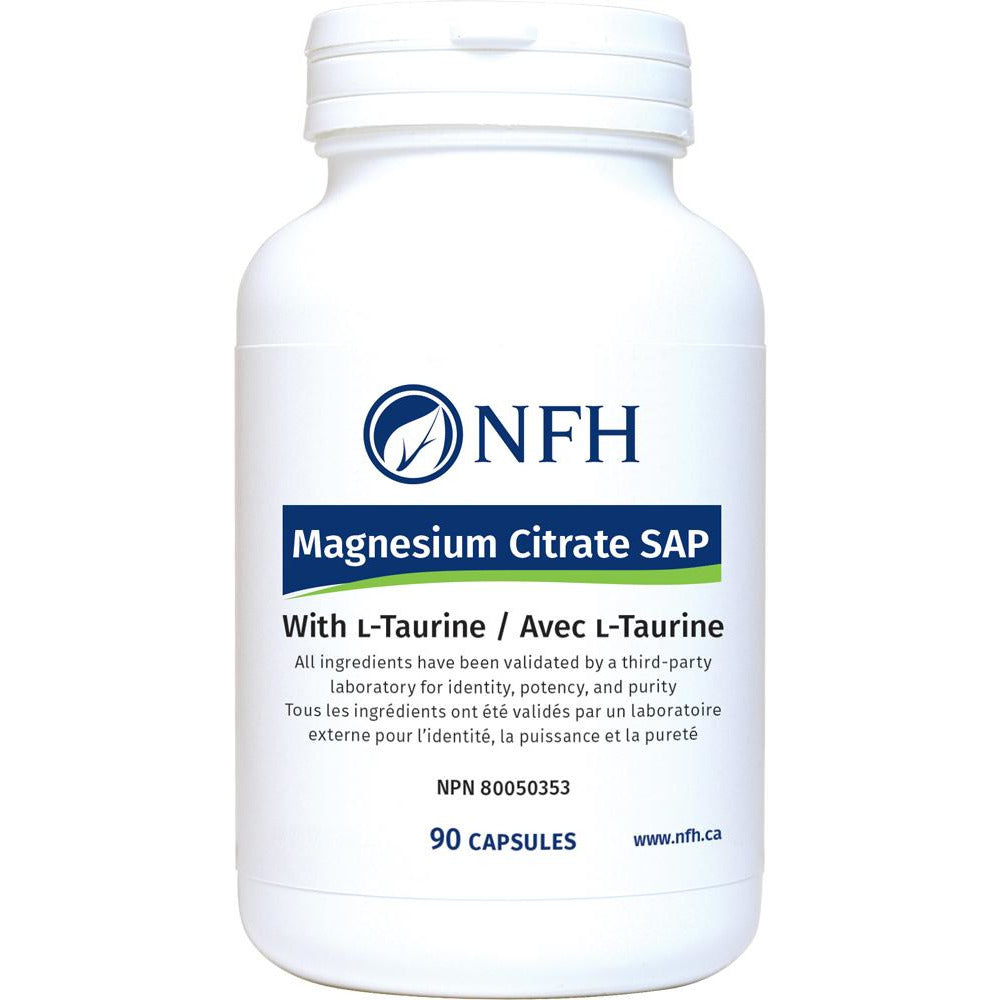 MAGNESIUM CITRATE SAP with L-TAURINE 90 caps - iwellnessbox
