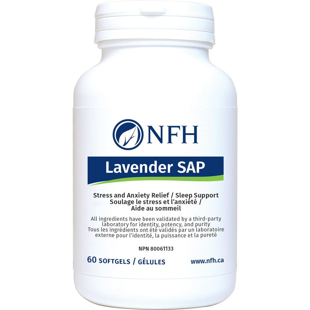 LAVENDER SAP FOR STRESS AND ANXIETY RELIEF AND SLEEP SUPPORT 60 sofgels