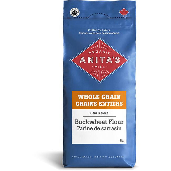 Buckwheat Flour Organic Whole Grain 1 KG - iwellnessbox
