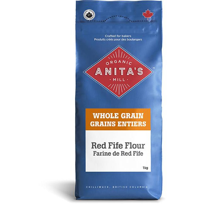 Red Fife Flour Organic Whole Grain 1 kg