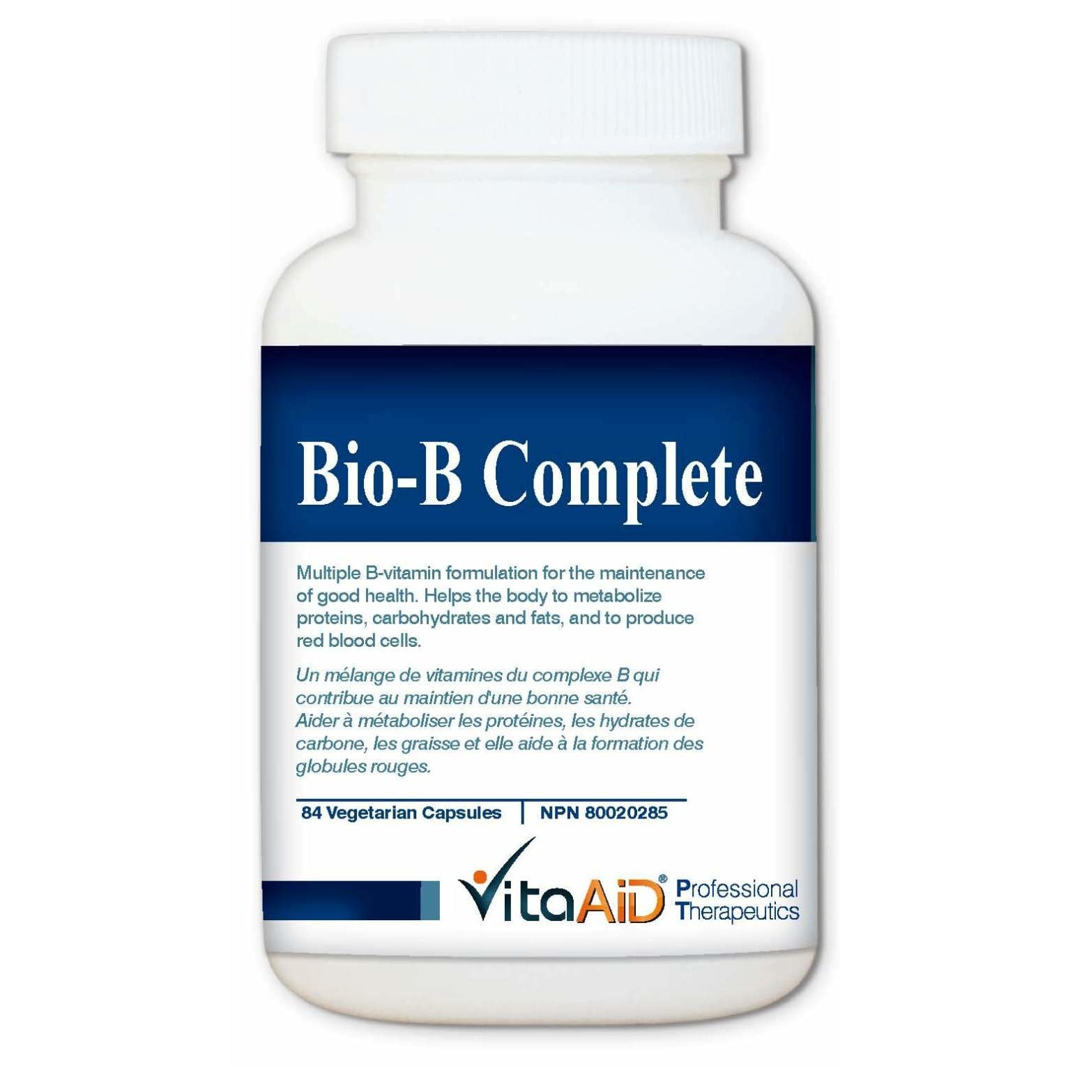 Bio-B Complete Balanced Formulation of B-Vitamins and Lipotrophic Agents for Energy Support 84 veg caps