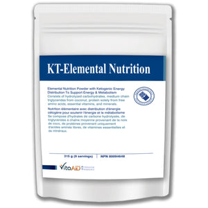 KT-Elemental Nutrition (Chocolate) Elemental Nutrition Powder with Ketogenic Caloric Distributions for Gastrointestinal Support 315 g - iwellnessbox