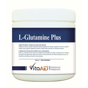 L-Glutamine Plus  Vegetarian L-Glutamine (9g) Formulated with Synergized Antioxidants 315 g